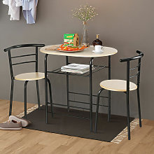 3PCS Dining Set 2 Chairs and Table Breakfast Bar
