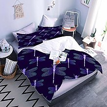 3Pcs Duvet Cover Sets Butterfly Bedding Set With