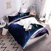 3Pcs Duvet Cover Sets Planet Easy Care Quilt Cover