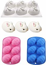 3PCS Easter Silicone Chocolate Mold, Eggs Egg