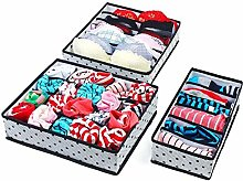 3pcs Foldable Underwear Organizer Bra Tie Socks