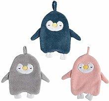 3Pcs Hanging Hand Towel,Cute Penguin Coral