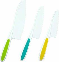 3pcs Kids Knife Set for Kids Baking Cooking