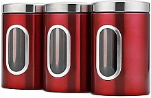 3PCS Kitchen Canister Set Food Storage Containers