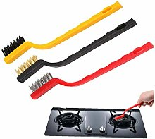 3pcs/lot Gas Stove Cleaning Iron Brush Strong