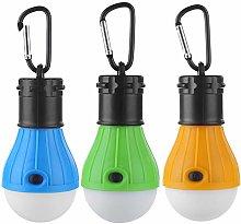3pcs Outdoor Camping Waterproof Tent Light 3 Modes