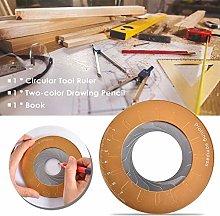 3PCS Round Circle Tool Adjustable Measurement