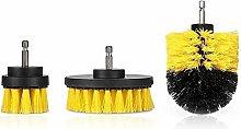 3pcs/Set Electric Drill Brush Kit Tile Grout