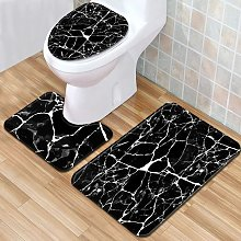 3pcs/set Marbling Non-Slip Bathroom Mat Rug Set