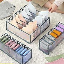 3pcs/set Underwear Storage Box Folding Closet