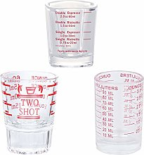 3Pcs Shot Glass Measuring Cup 60ML 90ML Liquid