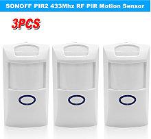 3PCS SONOFF PIR2 Wireless Dual Infrared Detector
