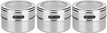 3Pcs Stainless Steel Seasoning Pot Can Spice