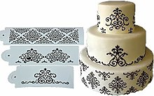 3Pcs Wedding Kitchen Baking Tool Cookie Damask