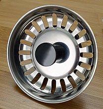 3X Basket Strainer Waste Plug - Stainless Steel