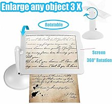 3X Desktop Magnifying Glass With Light LED
