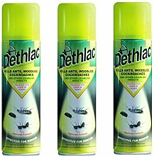 3x DETHLAC INSECT ANT WOODLICE COCKROACH KILLER