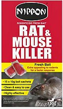 3X Rat & Mouse Killer Fresh Bait 150g