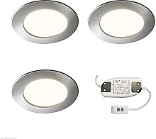 3x RECESSED LED KITCHEN UNDER CABINET CUPBOARD