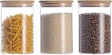 3x1000ml DM High Borosilicate Glass Jar Food