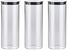 3x1000ML Glass Airtight Storage Jars Set of 3,