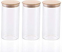 3x1300ML Glass Airtight Storage Jars Set of 3,
