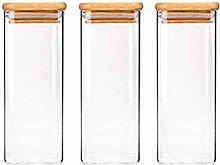 3X390ML Glass Airtight Storage Jar, Kitchen Food