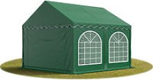 3x4 m party tent, marquee PVC dark green