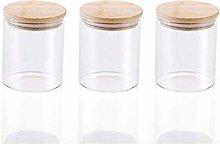 3x450ML Glass Airtight Storage Jars Set of 3,