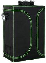 3x4FT Mylar Hydroponic Grow Tent w/ Adjustable
