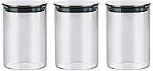 3x500ML Glass Airtight Storage Jars Set of 3,