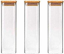 3X540ML Glass Airtight Storage Jar, Kitchen Food