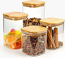 3X550ML Glass Airtight Storage Jar, Kitchen Food