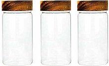 3X550ML Glass Airtight Storage Jar, Kitchen Food
