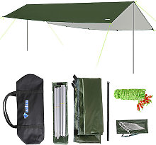 3x5m Awning Waterproof Tarp Tent Shade with Pole