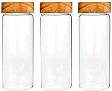3X750ML Glass Airtight Storage Jar, Kitchen Food