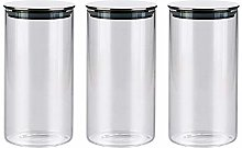 3x750ML Glass Airtight Storage Jars Set of 3,