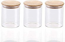 3x750ML Glass Airtight Storage Jars Set of 3,