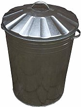 3X90L Galvanised Metal Dustbin with Lid
