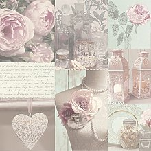 3XCharlotte Blush Wallpaper, Pink,
