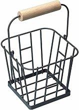 3XLiving Nostalgia Wire Egg Basket - Grey