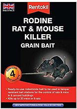 3XRodine Rat and Mouse Killer Grain Bait, 4X 25gm