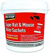 3XSuper Rat and Mouse Killer Sachets, Red, (h) x