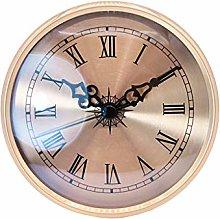 4.25''/108mm Quartz Clock Insert, Gold