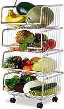 4 5 Tier Storage Baskets, Stainless Steel Fruit