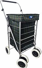 4/6 Wheel Strong Shopping Trolley Travel Market