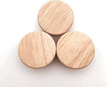 4/8/12 Pieces of Wooden Round knob Natural Wooden