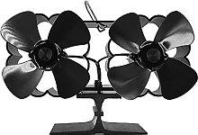 4 Blade Double Head Fireplace Fan, Wood Stove Fan,