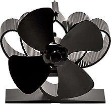 4 Blade Fireplace Fan for Wood Burners Log Burner/