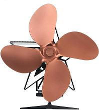 4-blade heat conduction fireplace fan,